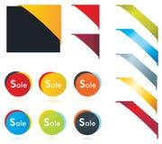Tag em branco das vendas para o Web Ilustração do Vetor