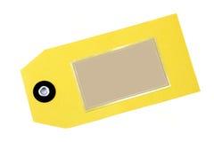 Tag em branco do ouro e do Tan Imagem de Stock Royalty Free