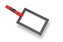 Tag, emblema em branco com frame preto Imagens de Stock
