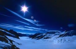 Tag für Nacht die Schweiz Stockfotografie