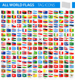 Tag Flag Icons - All World Vector. Illustration Stock Photos