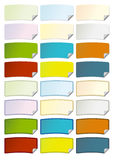 Tag with Folded Corner. A series of colorful curved tags with a folded corner, in vector format Stock Photo