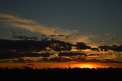 Tag gegen Nacht Stockfotografie
