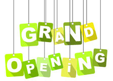 Tag grand opening Royalty Free Stock Photos