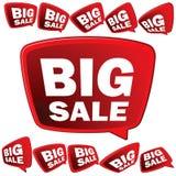 Tag grandes da venda 3D. + EPS8 Imagens de Stock Royalty Free