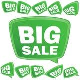 Tag grandes da venda 3D. + EPS8 Imagens de Stock