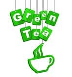 Tag green tea Stock Image