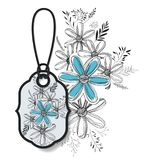 Tag hanging with floral pattern. Vector illustration design Royalty Free Stock Photography