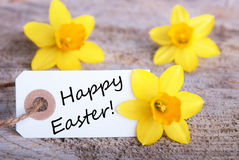 Tag with Happy Easter Royalty Free Stock Image