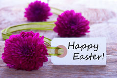 Tag with Happy Easter Stock Photography
