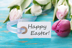 Tag with Happy Easter Royalty Free Stock Photography