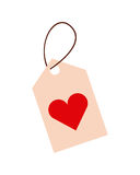 Tag with heart icon Stock Photos