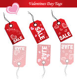 Tag with heart sale vector Stock Photos