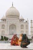 Tag heraus beim Taj Mahal lizenzfreies stockbild