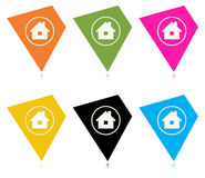 The tag with home icon collection Royalty Free Stock Photos