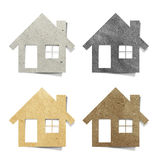 Tag house recycled paper craft Royalty Free Stock Image