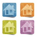Tag house recycled paper craft Royalty Free Stock Photography