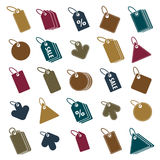 Tag icons isolated on white background vector set, retail theme Royalty Free Stock Photo