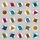 Tag icons set, retail theme simplistic symbols vector collection Stock Photo