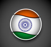 Tag of india flag design Stock Photo