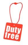 Tag isento de direitos aduaneiros no branco Imagem de Stock Royalty Free