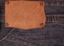 Tag on the jeans Stock Photo