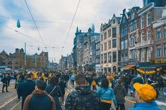 Tag Königs, Amsterdam, Holland - 27/04/2018 stockfotografie