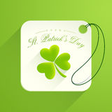 Tag or label for Happy St. Patrick's Day celebration. Royalty Free Stock Photos