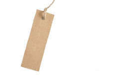 Tag label isolated on white stock photography