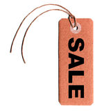 Tag label over white Royalty Free Stock Photos