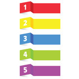 Tag label paper color vector Royalty Free Stock Images