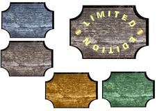 Tag or label pattern wood stock photo