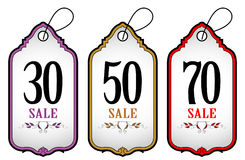 Tag label sale set. In vintage style Royalty Free Stock Photos
