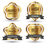 Tag label sticker set gold colour Stock Photo