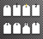 Tag label tally set price info sale Royalty Free Stock Images