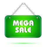 Tag mega da venda ilustração do vetor