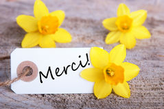 Tag with Merci Royalty Free Stock Photos