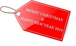 Tag Merry Christmas Royalty Free Stock Image