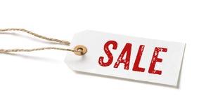 Tag mit dem Text Verkauf Stockbild