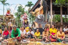 Tag Nyepi wird auch als neues Jahr gefeiert - die Übereinstimmung des Balinesekalenders kam jetzt 1938-jährig Lizenzfreie Stockbilder