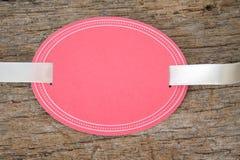 Tag oval em branco fotografia de stock