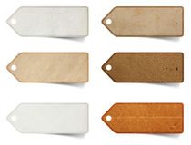 Tag paper craft stick stock photography