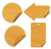 Tag paper craft stick Royalty Free Stock Image