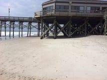 Tag am Pier stockfotografie