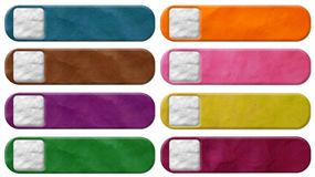 Tag plasticine. Isolated on a white background Stock Photography