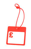 Tag with pound symbol stock image
