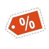 Tag price discount percent Stock Photo