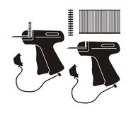 Tag price gun - silhouette Stock Photography