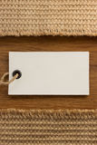 Tag price and sack burlap Royalty Free Stock Images
