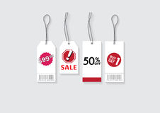 Tag price and sale. 4 style of tag price and sale vector illustration